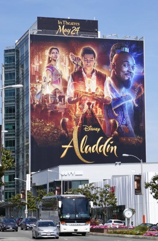 Giant Disney Aladdin movie billboard
