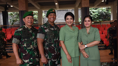 Kasad Menerima Laporan Korps Kenaikan Pangkat 24 Perwira Tinggi Angkatan Darat