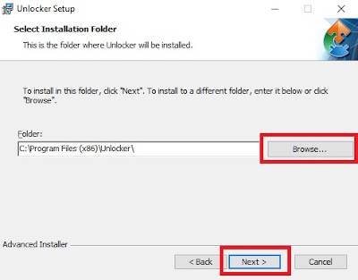Sobat pilih lokasi penginstalan terlebih dahulu dengan cara klik Browse. Jika sudah, klik Next.