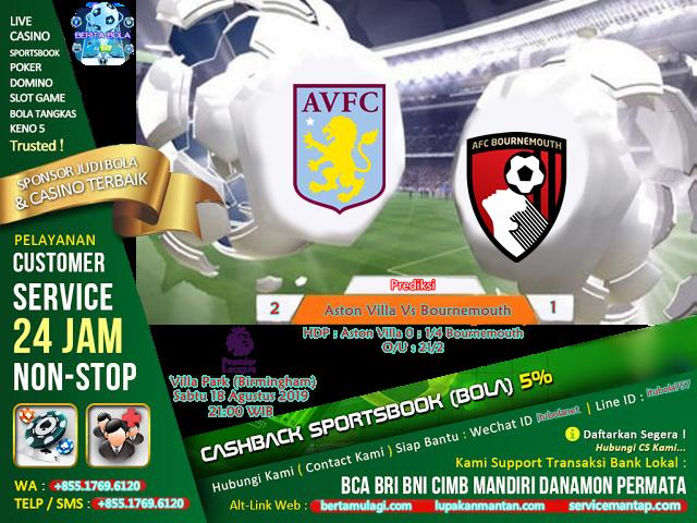 Prediksi Aston Villa Vs Bournemouth - ituBola
