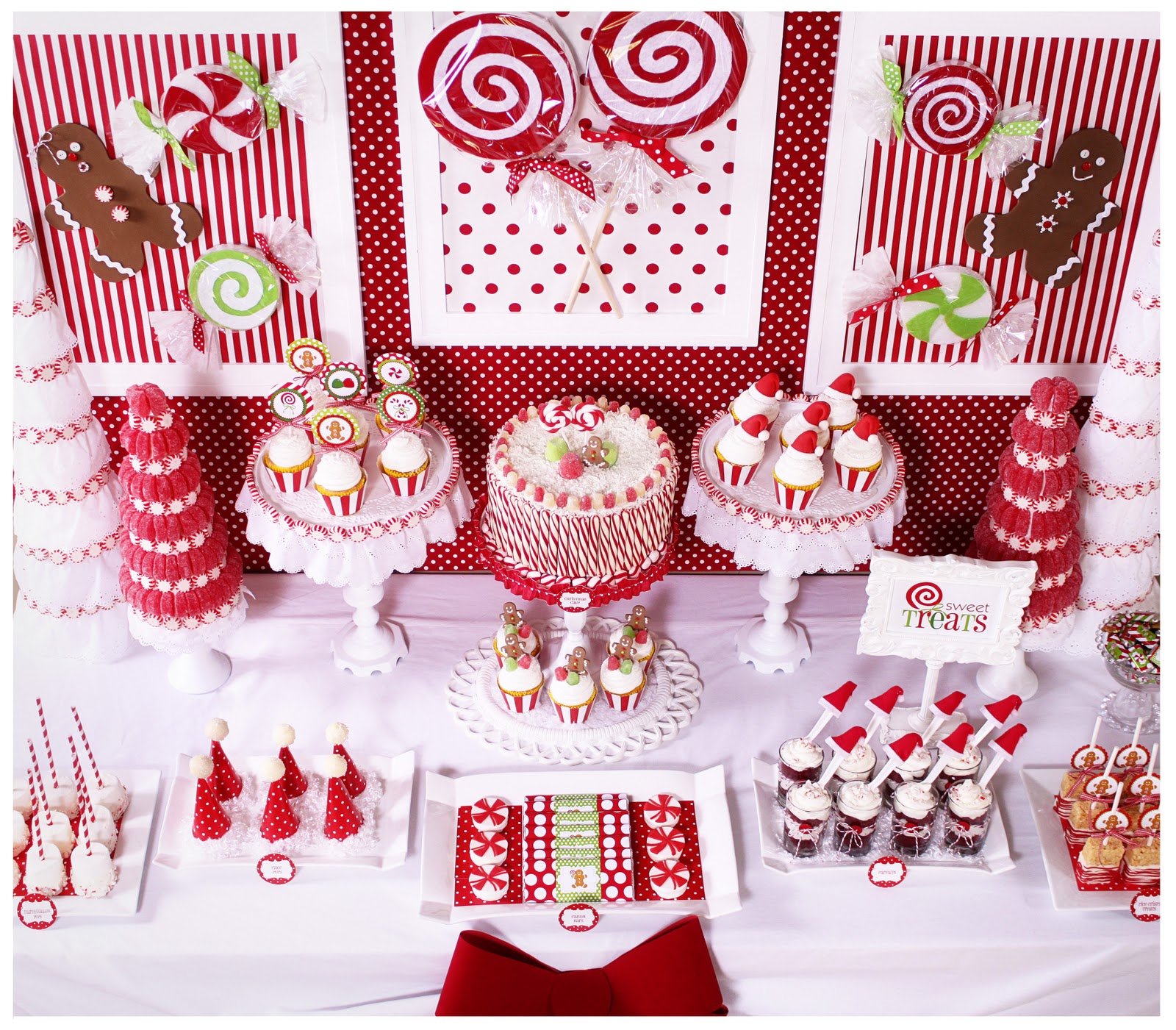 Fun Christmas Table Decorations: Kara's Party Ideas Candy Land Christmas Party