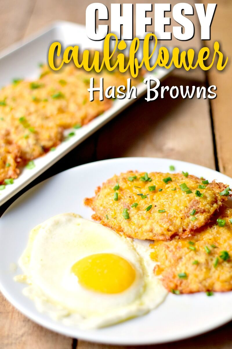 Cheesy Cauliflower Hash Browns - This low-carb cheesy cauliflower hash brown recipe is delicious, keto-friendly, gluten-free, and so easy to make!  #keto #lowcarb #glutenfree #breakfast #cauliflower #hashbrowns #easy #recipe | bobbiskozykitchen.com