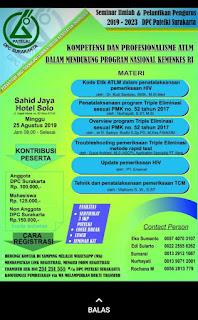 Seminar Ilmiah dan Pelantikan Pengurus 2019-2023 DPC Patelki Surakarta Tahun 2019