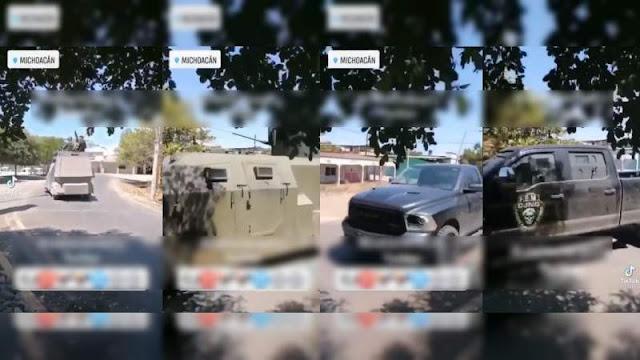 Video.- Así es como desfilan Fuerzas Especiales de El Mencho por las calles de Michoacán, ni Ejercito o Cárteles Unidos intervienen ante Monstruos y blindados