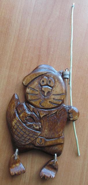 панно кот-рыболов