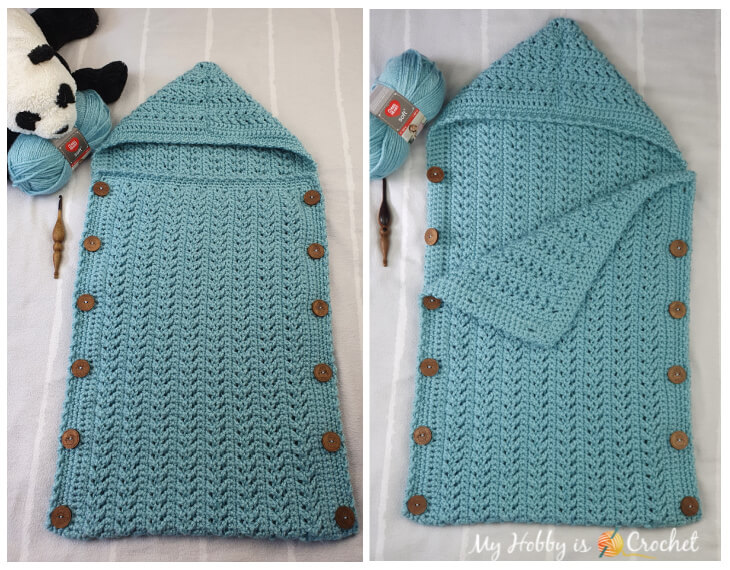 Go with the Flow Crochet Baby Bunting, Crochet Sleeping Bag
