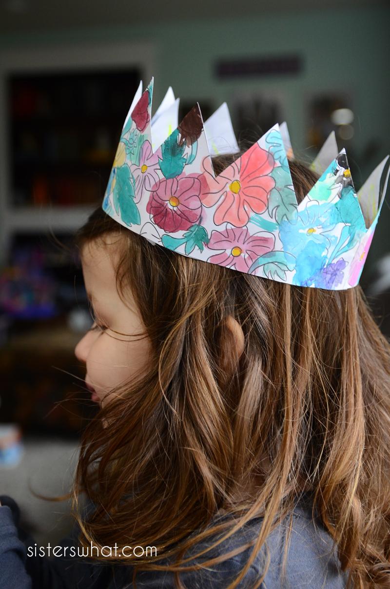 free printable flower crown