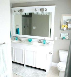 White Frame Bathroom Mirror Remarkable Plain White Bathroom Mirror