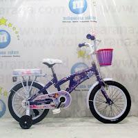 Sepeda Anak Wimcycle Sofia 16 Inci Lisensi purple