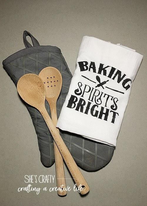 Mother's Day Gift Ideas - diy tea towel baking gift idea.