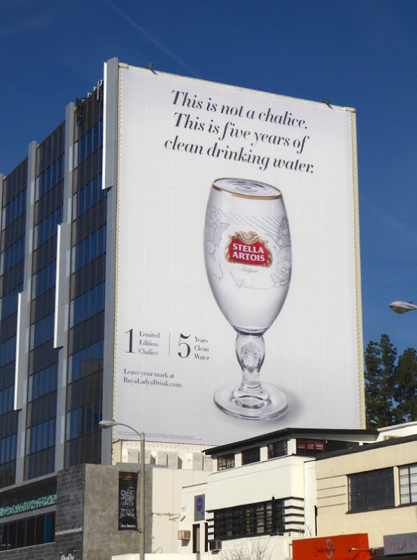 Giant Stella Artois clean drinking water billboard