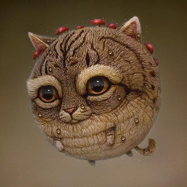 04-A-cat-creature-Surreal-Creature-www-designstack-co