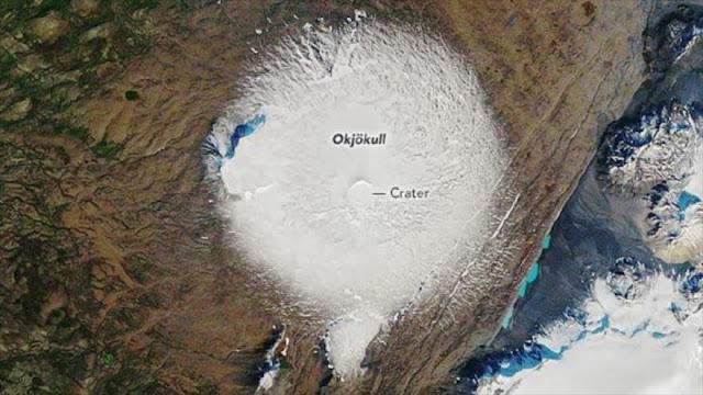Desaparece el primer glaciar en Islandia debido al cambio climático