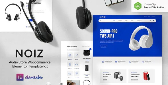 Best Audio Store WooCommerce Elementor Template Kit
