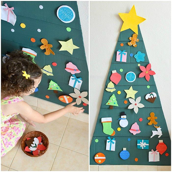Diy rbol de navidad para ni os bizcochos y sancochos - Arbol de navidad infantil ...