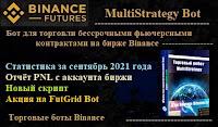MultiStrategy Bot  для фьючерсов Binance -  статистика за сентябрь 2021 года + скрипт + PNL + Акция