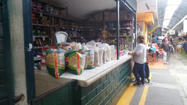 A booth at a market in Magdalena del Mar, Lima