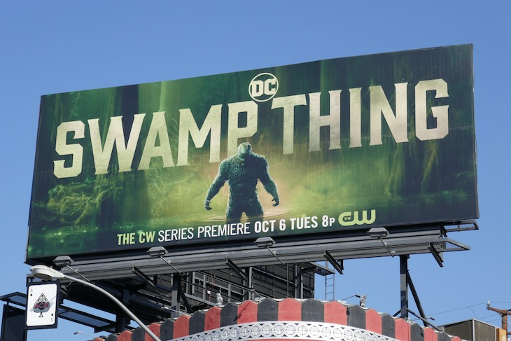 DC Swamp Thing CW series launch billboard
