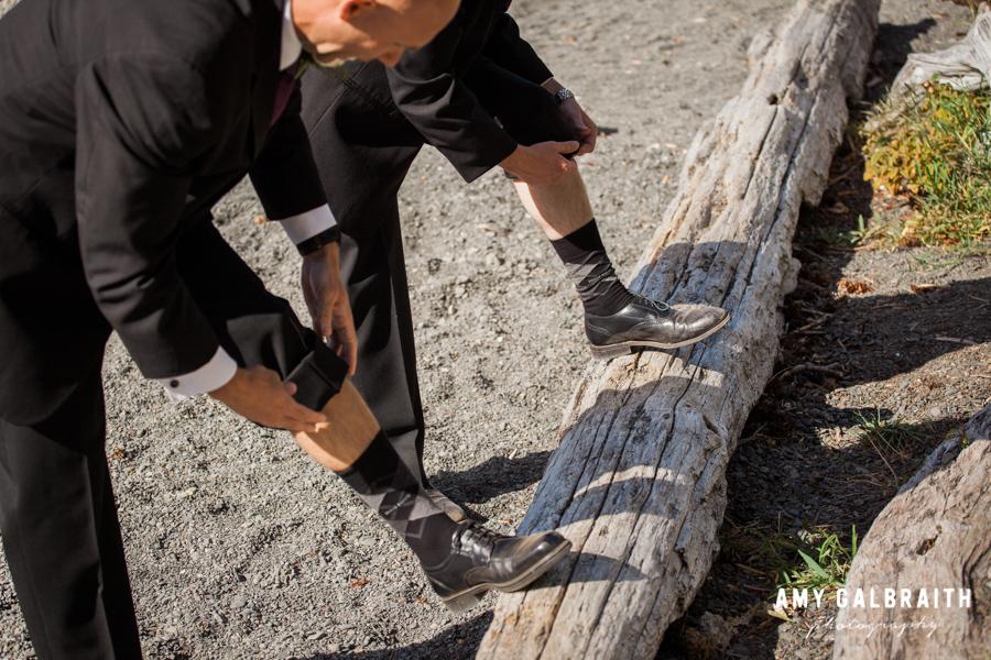 groomsmen with matching socks