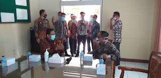 Pjs Gubernur Jambi Lakukan Kunker Dinkes Provinsi Jambi Penanganan Covid-19.