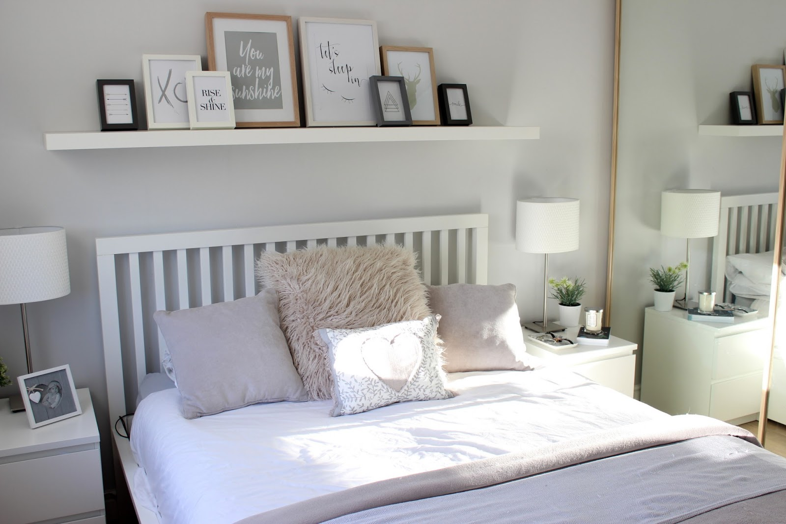 Home bedroom tour maisy meow for Images of bed rooms