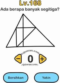 banyak segi tiga ada berapa brain out