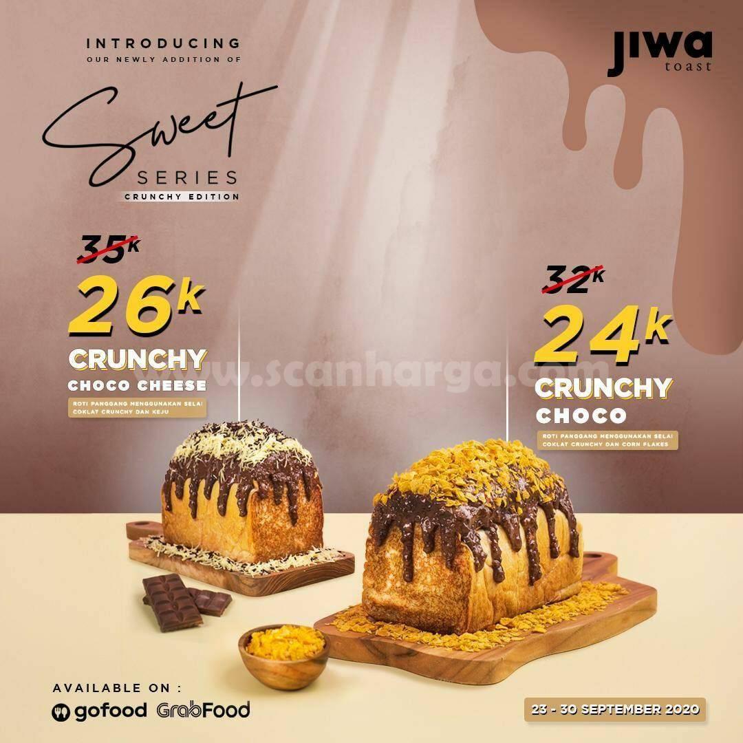 Promo JIWA Toast Sweet Series Crunchy Edition Harga mulai Rp 24K