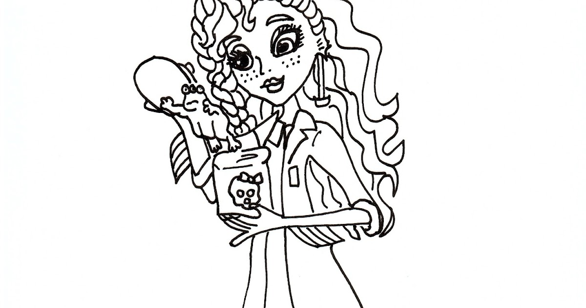 Free Printable Monster High Coloring Pages: Lagoona Mad