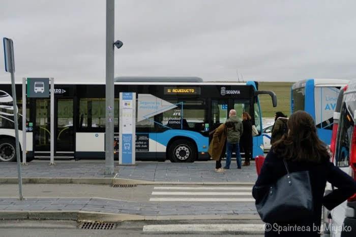 AVE鉄道セゴビア駅のバス乗り場
