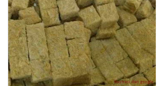 Media tanam selanjutnya yaitu rookwool, rookwool adalah media non organik dimana cara pembuatannya dengan meniupkan udara atau uap pada batuan leleh, dan hasilnya adalah semacam fiber yang berongga.