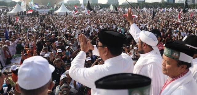 Reuni 212 Massa Potensial Pemilih Prabowo, tapi Jokowi Bisa Bikin Hancur Pakai Serangan Ini