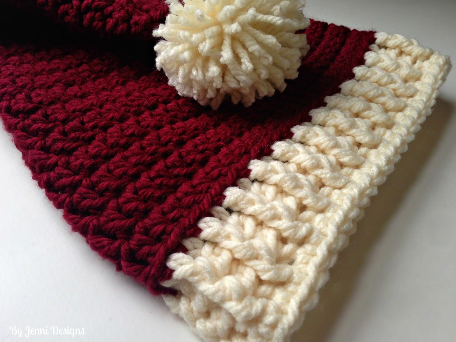 By Jenni Designs Free Crochet Pattern Chunky Santa Hat