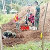 Satgas TMMD Kodim 1424/Sinjai Mulai Bangun Pondasi Jembatan Gantung Di Desa Tompobulu