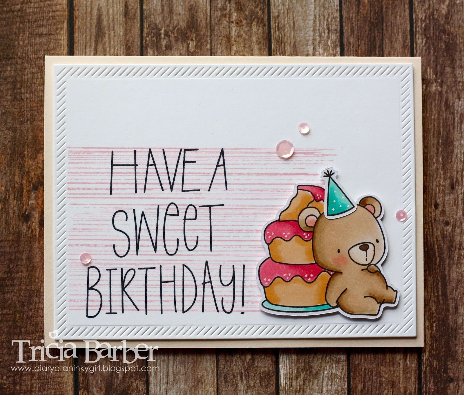 Diary Of An Inky Girl Beary Special Birthday 3 Cards