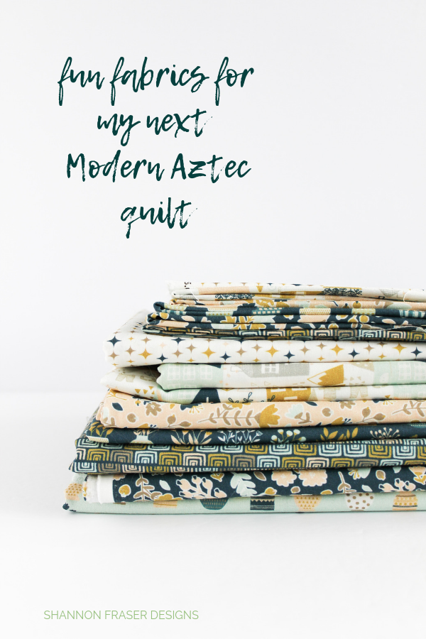 Neufchatel fabric pull for Modern Aztec quilt | Q2 2019 Finish-A-Long Proposed Projects | Shannon Fraser Designs