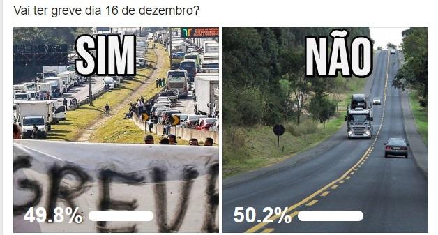 greve, 2019,15,16, de dezembro, paralisação, motoristas, caminhoneiros, caminhões, protestos, aumento do diesel, vai ter greve, cut,