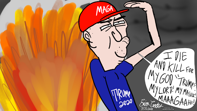MAGA DANGEROUS ( Political Satire Cartoon ) #cartoon #cartoons #webcomic #webcomics #comic #comics #darkcomedy #darkhumor #satire #impeachtrump #trumpsucks #antitrump #dumptrump #politicalcartoon #politicalcartoons #politicalsatire #ericacrooks #ericacrookscomics #ericacrookscomics2019 #officialericcrooks #antiauthoritarian #toxicmasculinity #cult #evil #brainwashed #magasucks #rightwingisahatecrimeagainsthumanity #hierarchyistherootofallevil #editorialcartoon #editorialcartoons  And for more hilarious puppets and cartoon animation parodies, Dark Comedy humor , satires and funny stupid videos for adults ( even comics and other cool stuff )