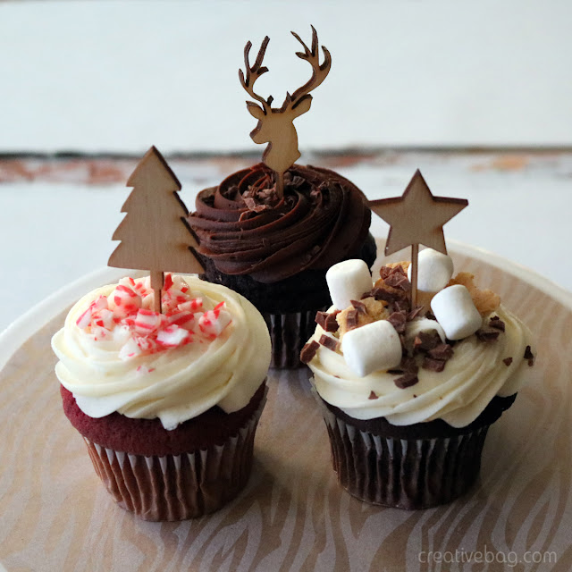 holiday cake and cupcake toppers | creativebag.com