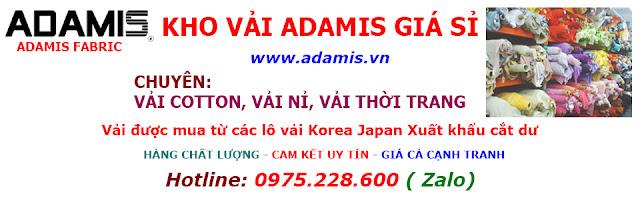 BẢNG HIỆU KHO VẢI ADAMIS GIÁ SỈ
