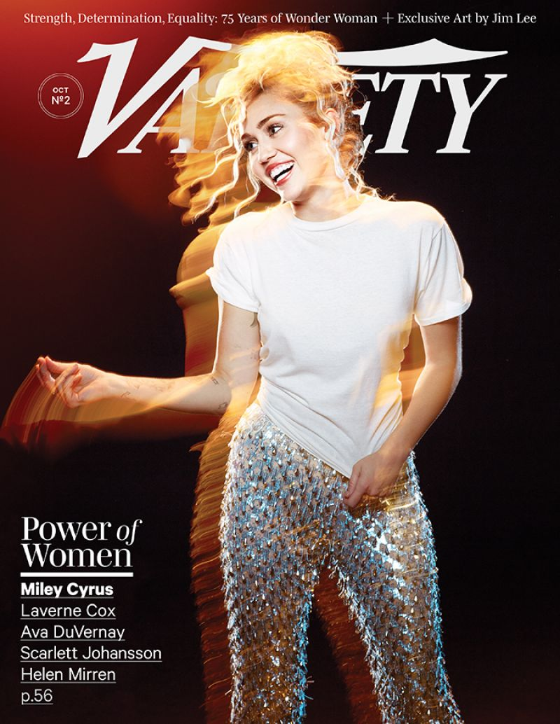 Miley Cyrus features on the Variety Power of Women LA Issue 2016