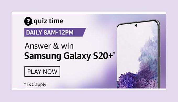 Amazon Quiz 13 September 2020 Answers Win – Samsung Galaxy S20+