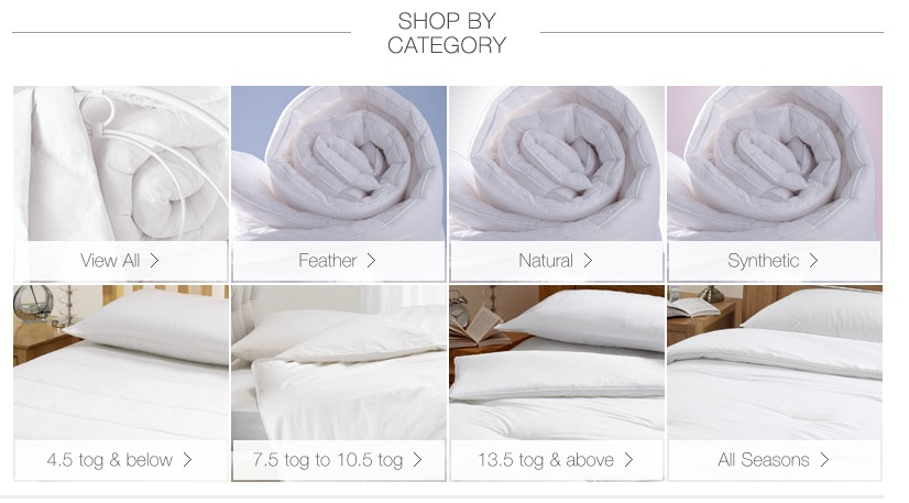 Duvets In Categories 4 5 Tog Below 7 To 10 13 And Above All Seasons