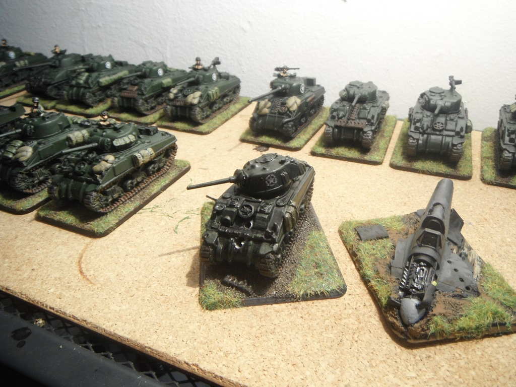 A figure painting therapy project.: FoW objective markers.