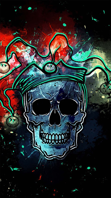 20 Abstraction Relief Skull Art, Surface Structure Skull Wallpapers HD for iPhone and Android