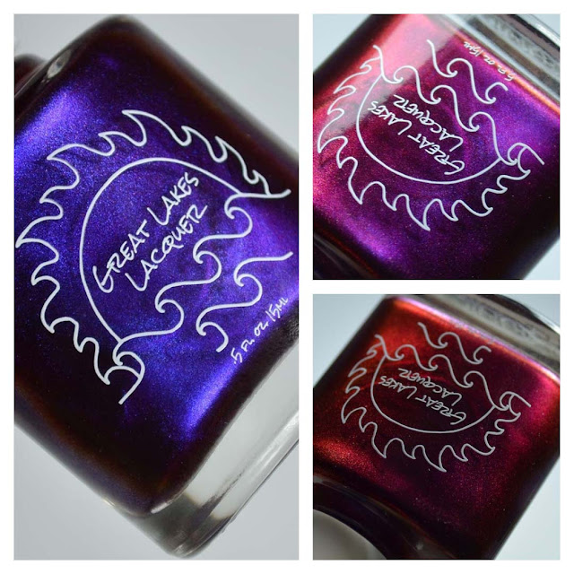 burgundy multichrome nail polish