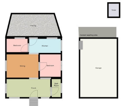 Rough Floor Plan of the Fingal House (not to scale)