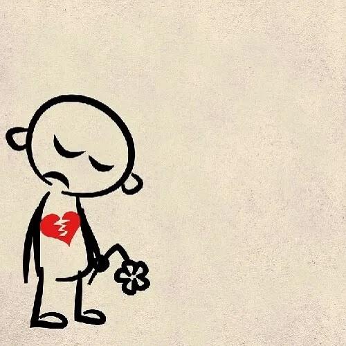 girl with broken heart DP