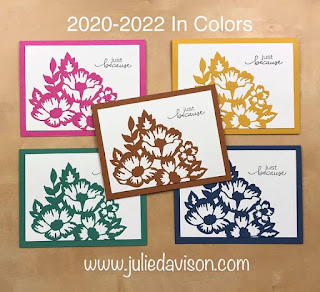 VIDEO: Meet the 2020-2022 Stampin' Up! In Colors ~ Blossoms in Bloom Bundle ~ Sneak Peek ~ www.juliedavison.com