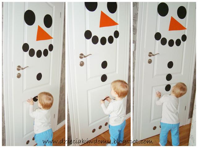 bałwanek dla dzieci dekoracja zimowa