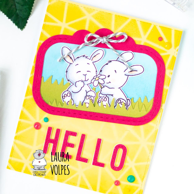 Bright Spring Card feat Gerda Steiner Designs Bunny Friends